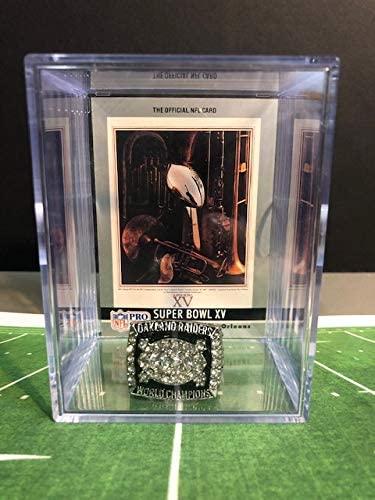 Oakland Raiders Super Bowl XV Replica Championship Ring Shadowbox w/Program Card