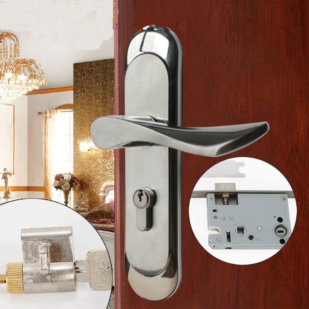 Indoor Door Locks Stainless Steel Privacy Door Locks Wooden Door Lock Ordinary Door Lock Mortise Lever Handle Lock Full Set