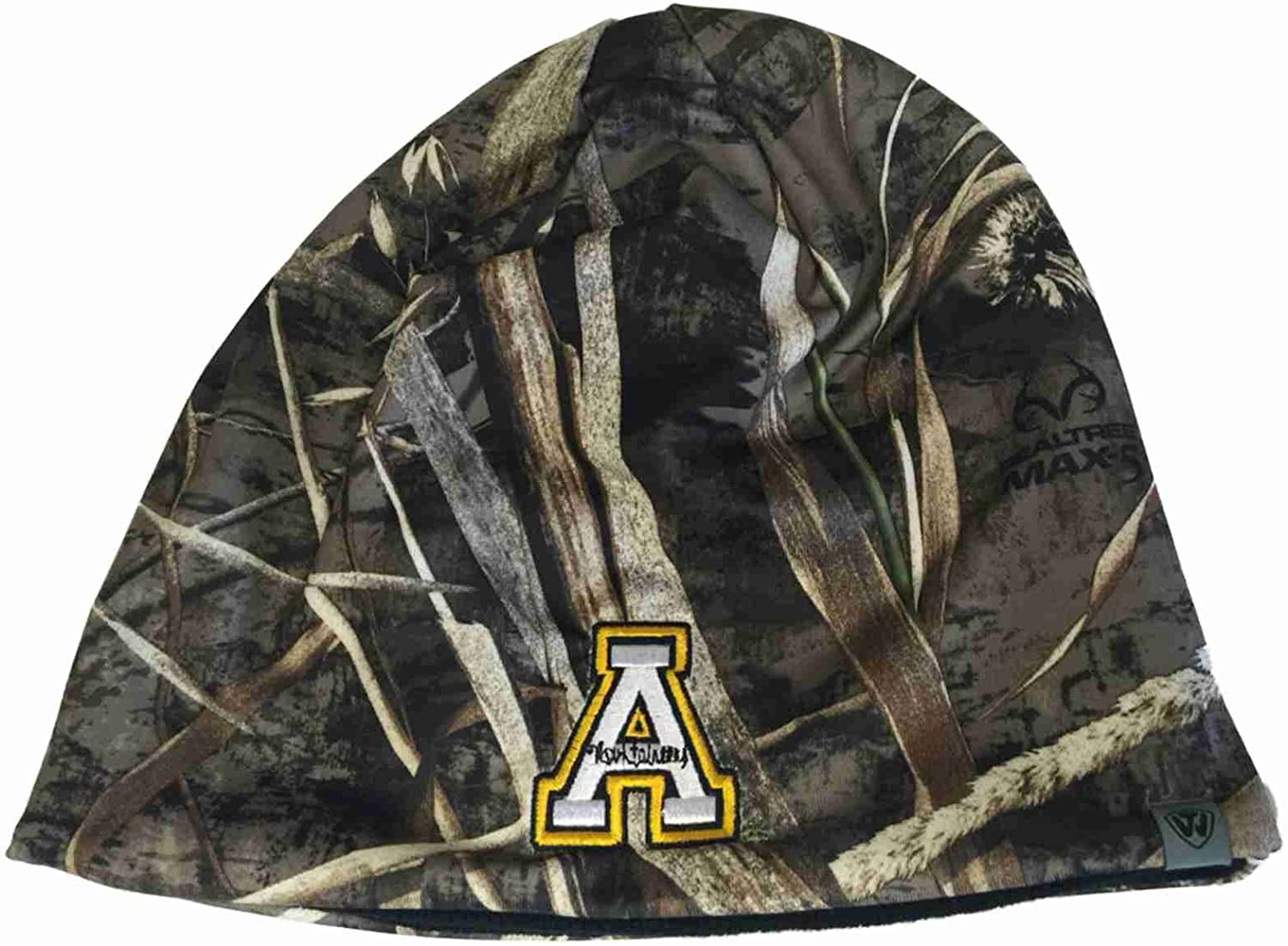 Top of the World Appalachian State Mountaineers Tow Realtree Max5 Seasons Reverse Beanie Hat Cap