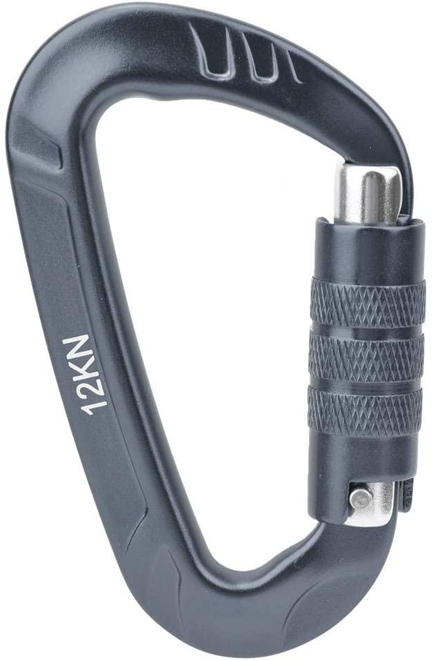 Aluminum Carabiner - 1 pcs 7075 Aerospace Aluminum 12KN D Shaped Buckle Carabiner Clip Outdoor Safety Accessory