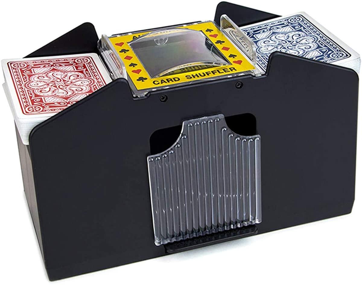 NCONCO Automatic Card Shuffler, Electric Poker Cards Shuffling Machine for Home Party Club