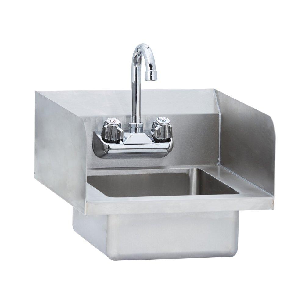 Fenix Sol Wall Mounted Hand Sink with Side Splash, 14