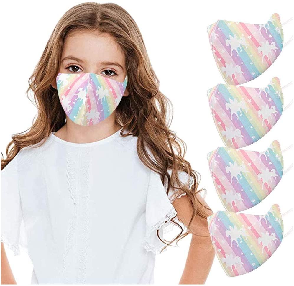 899 Kids Face Macks Reusable Cloth Face Bandanas Set, Cotton, Back to School/Work Supplies