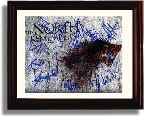 Framed Game of Thrones Autograph Replica Print - Game of Thrones Cast