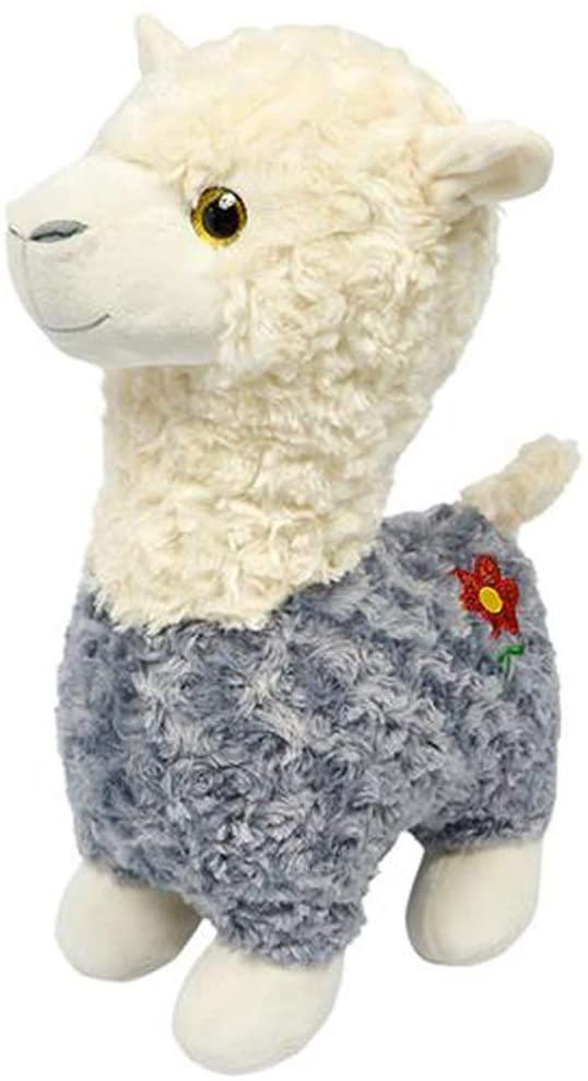 Knextion Inc. Llama Stuffed Animal Plush Toy Gift - Gray Color - 12 inch
