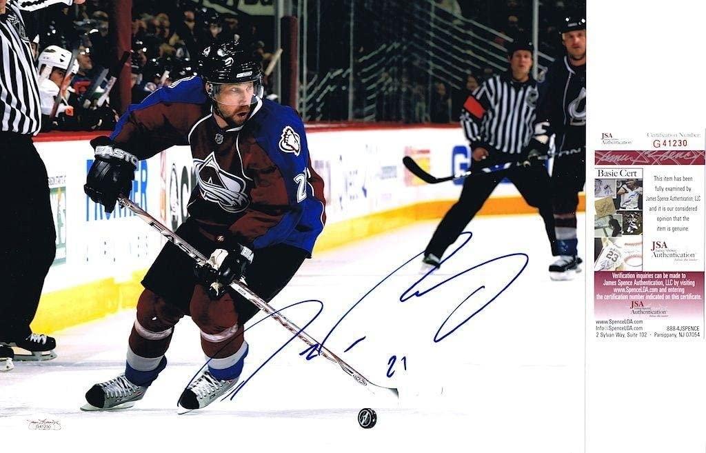 PETER FORSBERG Signed COLORADO AVALANCHE 11X14 PHOTO - JSA G41230 - Autographed NHL Photos