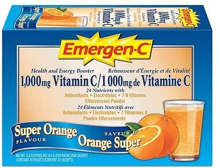 Emergen-C 1,000Mg Vitamin C, Super Orange, 30 Packets