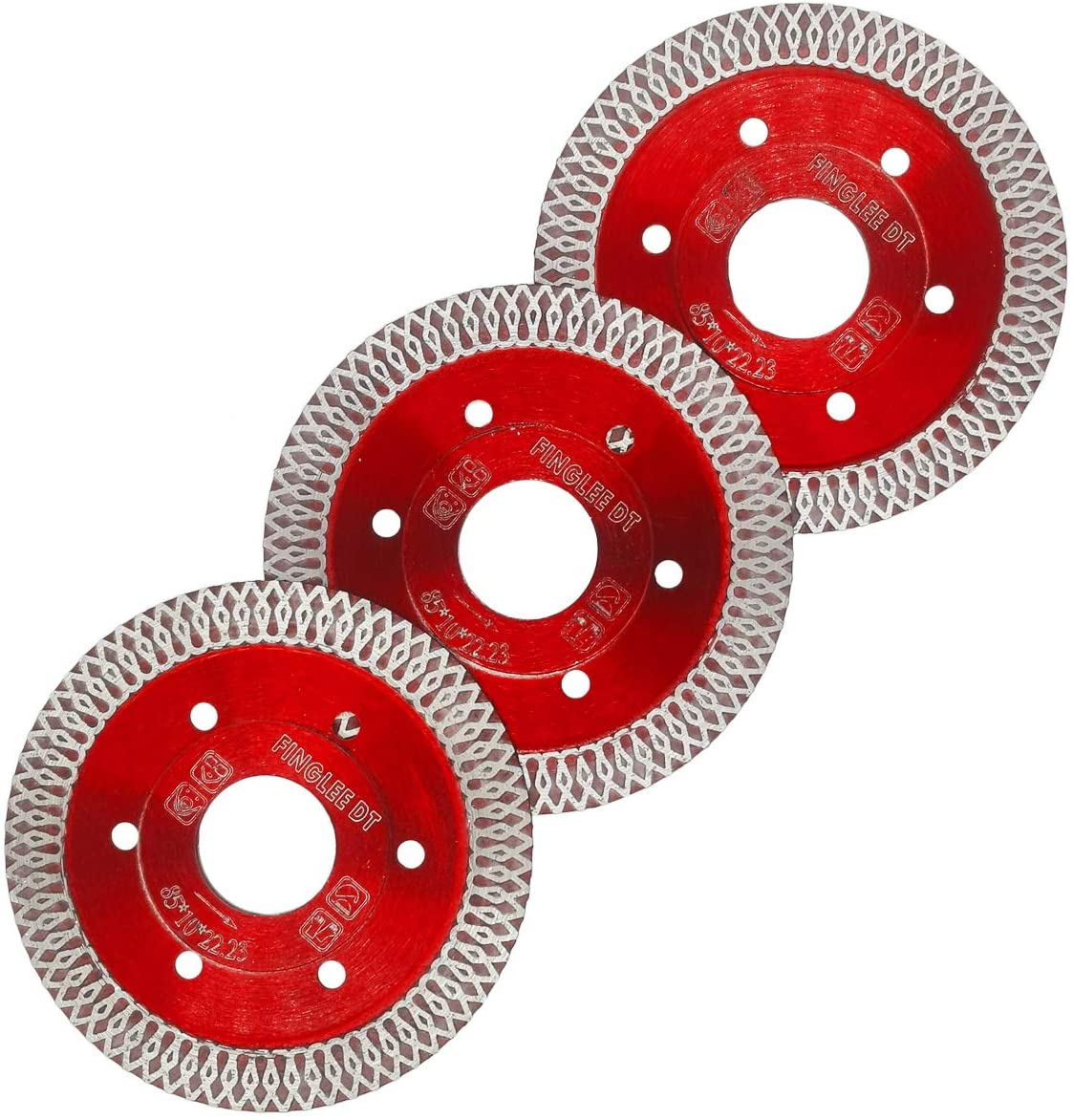 FINGLEE DT Super Thin Diamond Saw Blade for Porcelain Tile Ceramic,Diamond Cutting Blade,with 7/8