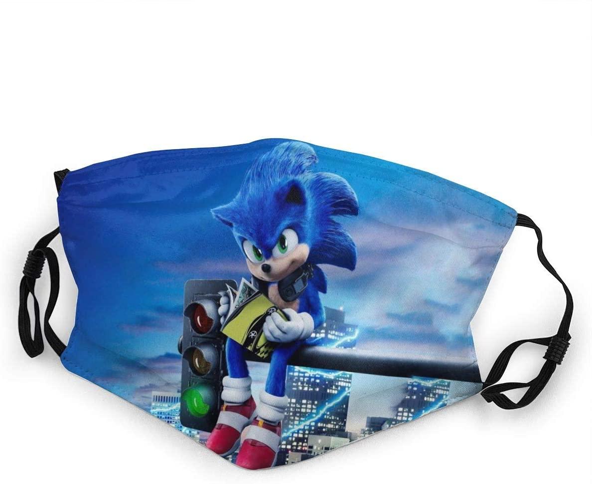HZIJUE Sonic The Hedgehog Face Mask Masks Windproof Anti Reusable Comfortable Breathable Balaclava 12-1 PCS