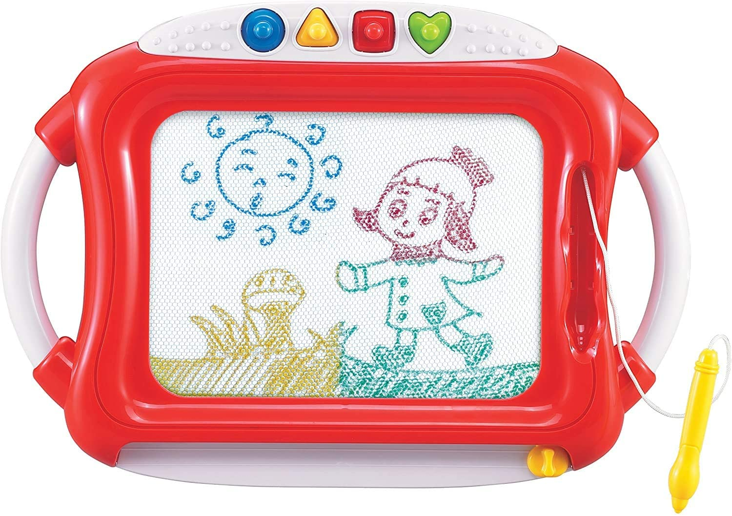 First Classroom Magnetic Color Doodle Fun Drawing Board Set - Learning Education Interactive Activity Toy - Writing Learning Tool - Touch and Stimulation - Sketch Pad for Kids & Toddlers.