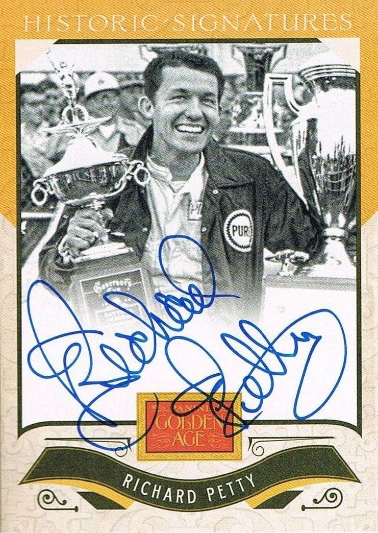 2012 Panini RICHARD PETTY # RP Golden Age Historic Signatures Autograph - Autographed NASCAR Cards