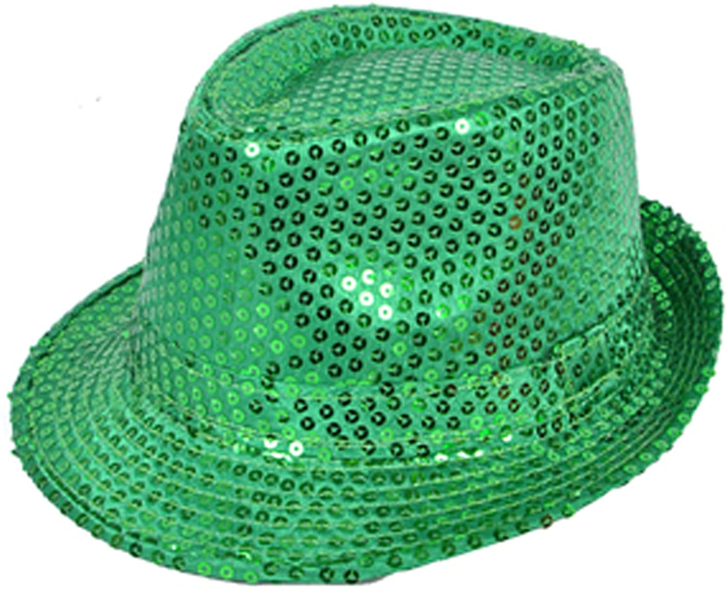 boxed-gifts Solid Color Sequins Fedora Hat