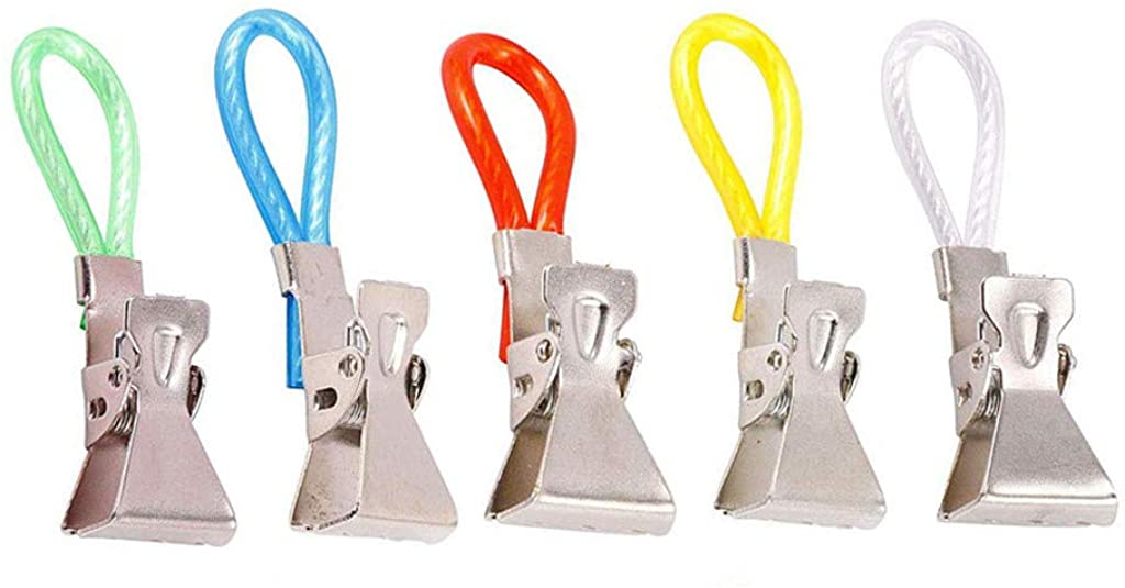 Kiorc Durable Tea Towel Hanging Clips Clip On Hook Loops Hand Towel Hangers 5Pcs