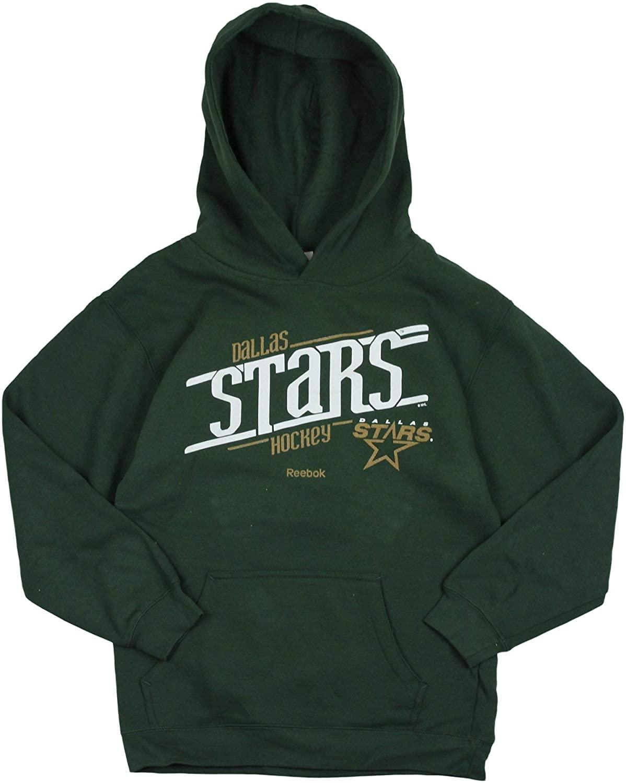 Reebok Dallas Stars NHL Big Boys Custom Fleece Hoodie, Green