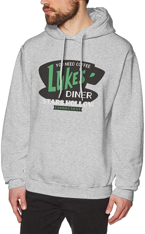 NYF 3D Printed Fleece Gilmore Girls Luke's Diner Logo Long Sleeve Sport Hoodie Pullover Youth Mens Fashion Sweatshirt