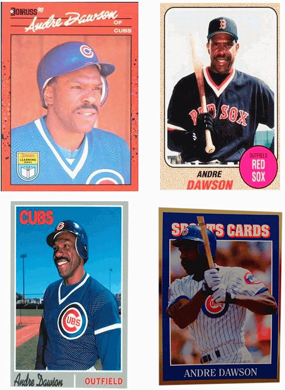 (4) Andre Dawson Odd-Ball Trading Card Lot