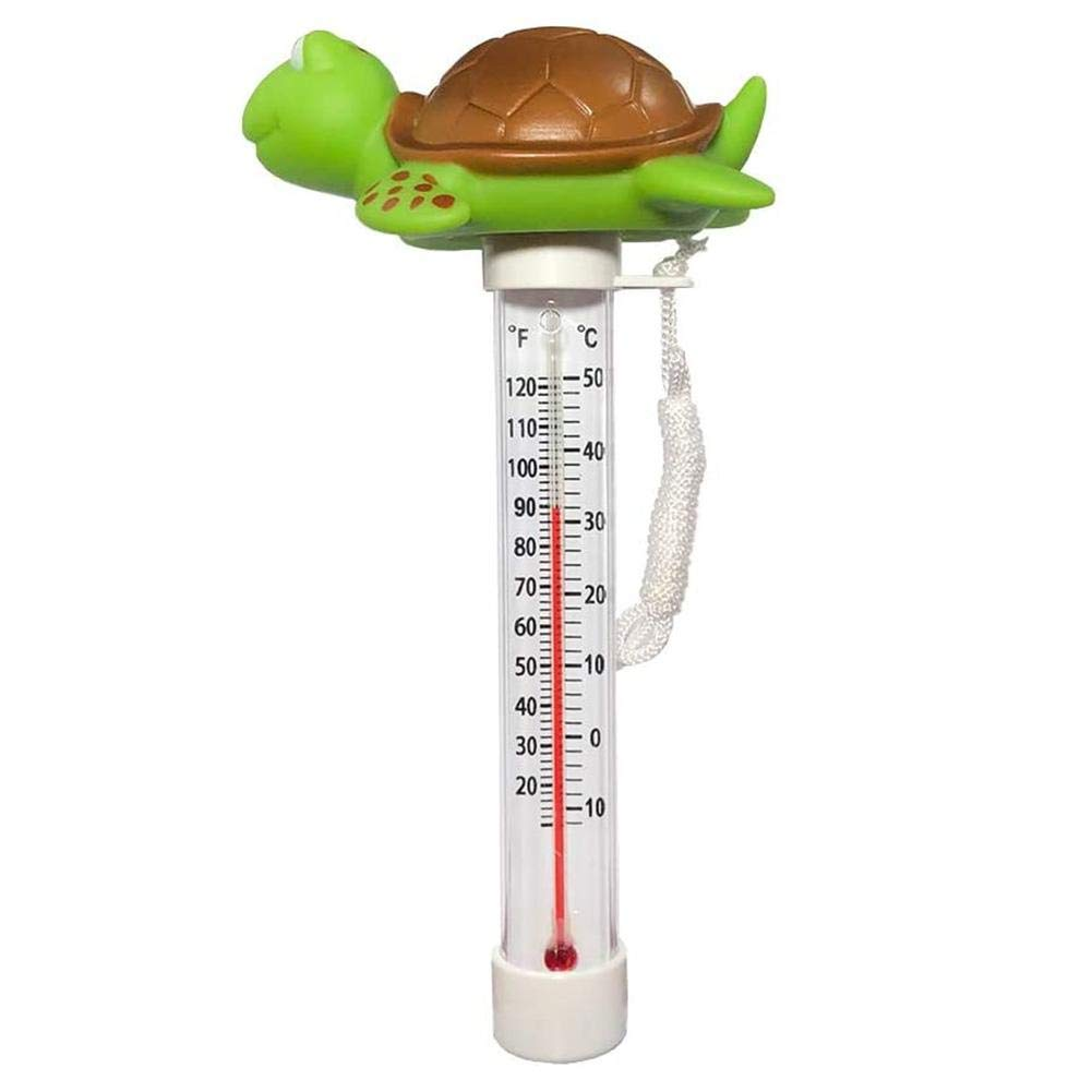 Floating Pool Thermometer, Cute-Shaped Shatter Resistant Thermometer for Large Size String Outdoor and Indoor Swimming Pools, Bath Water, Hot Tub, Spa and Pond
