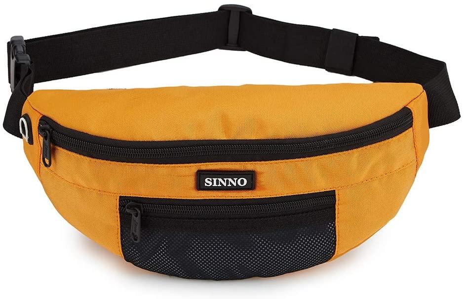 Stylish Waist Pack for Women Men Lightweight Running Fanny Pack Adjustable Belt Chest Bag(Orange)