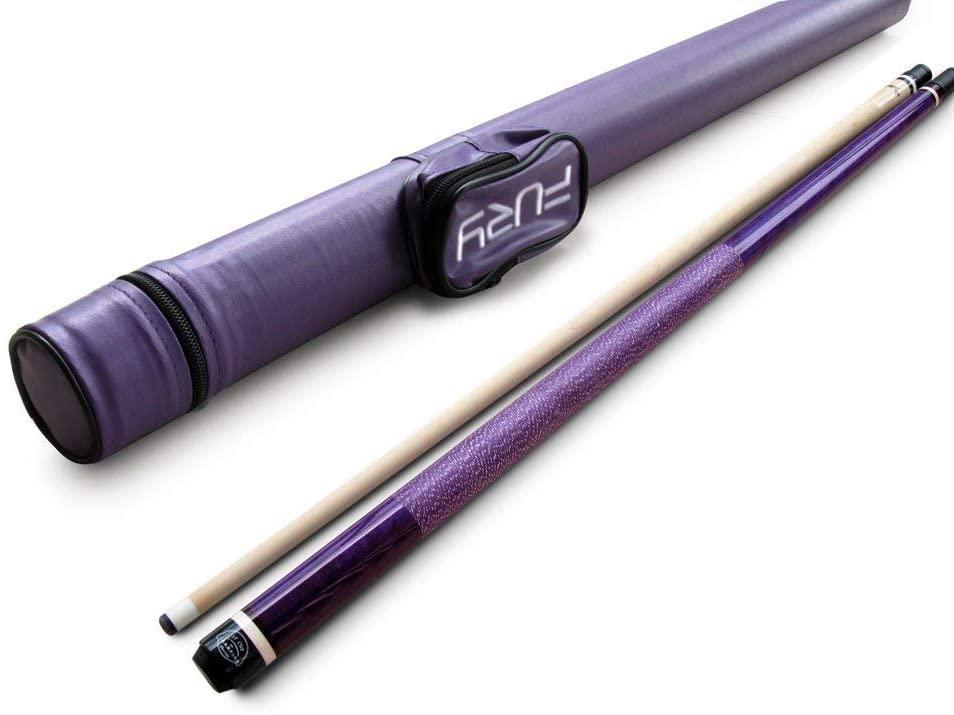 Champion ST-10 Purple Billiards Cue with Fury Pool Cue Case, Cuetec Glove