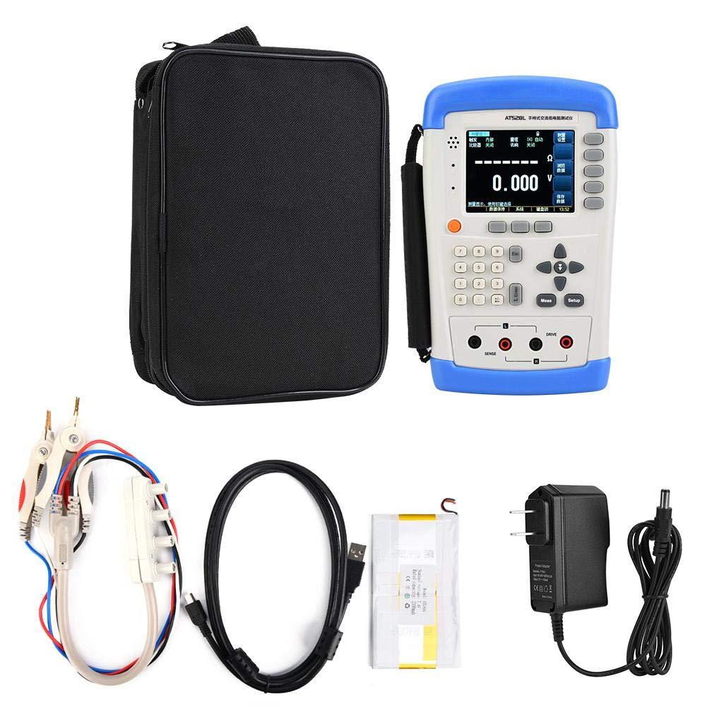 AT528L Battery Internal Resistance Tester, Handheld Battery Tester Portable Digital AC Resistance Meter DC Voltage Battery Tester(US Plug)