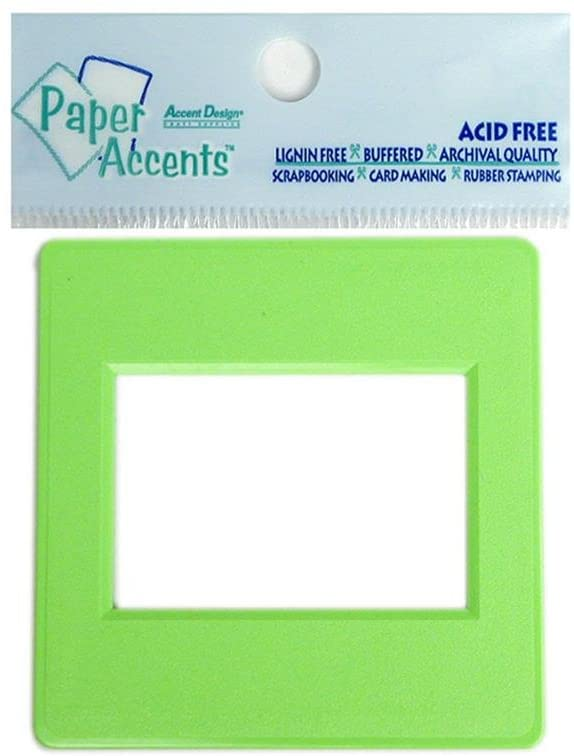 Accent Design Paper Accents Paper Accents Slide Frame 5 pc Lime Green