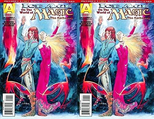 Magic the Gathering: Ice Age #1 (1995) Limited Series Armada Comics - 2 Comics
