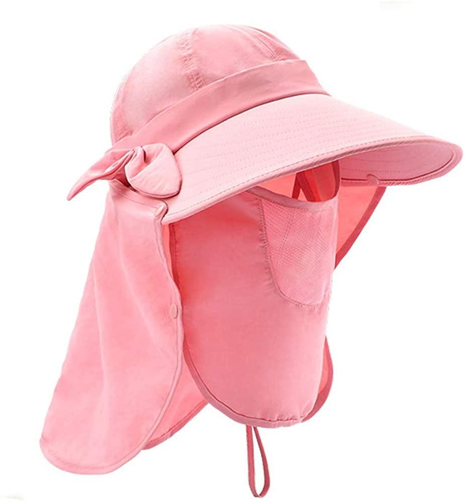 Gossifan Waterproof Sun Hat for Women Sun Protection Bucket Cap w/Neck Flap Hat Wide Brim Outdoor Hat