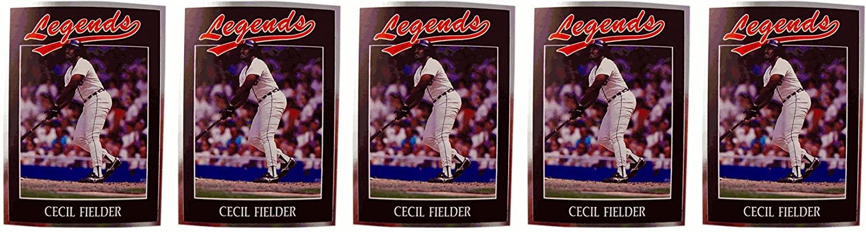(5) 1991 Legends #2 Cecil Fielder Baseball Card Lot Detroit Tigers