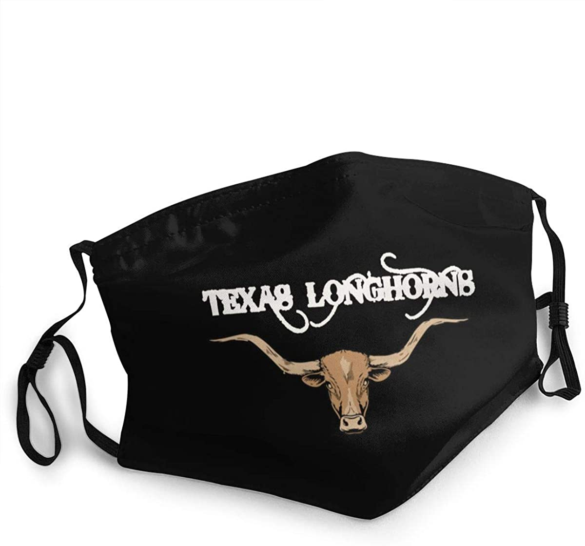 Texas Longhorns Design Art for Texasoutdoor Mask, Protective 5-Layer Activated Carbon Adult Men and Women Headscarf