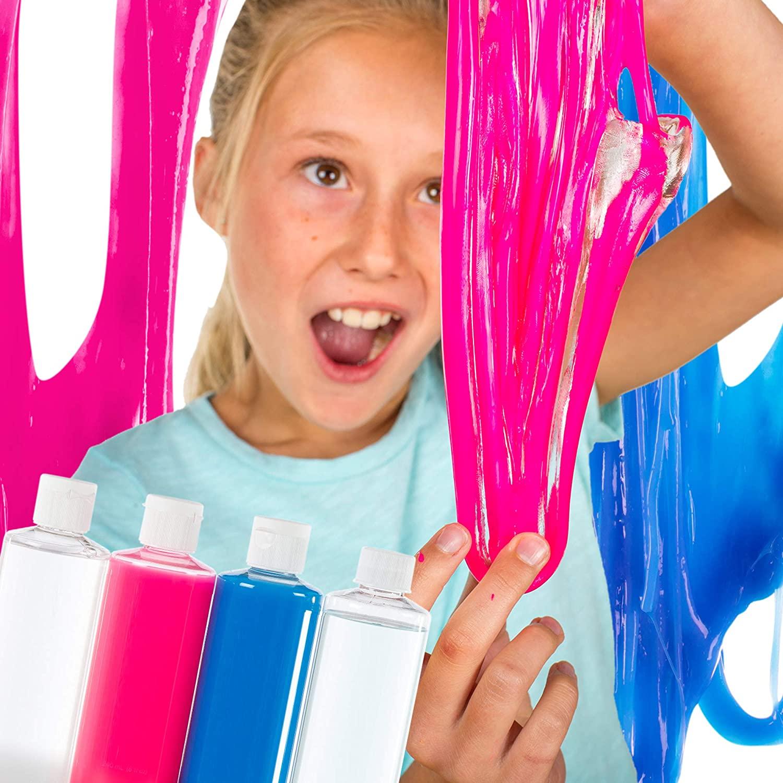 Steve Spangler's Slime Art (3 Pack) - Clear Glass, Hot Pink, Electric Blue, Make Your Own Slime Kit