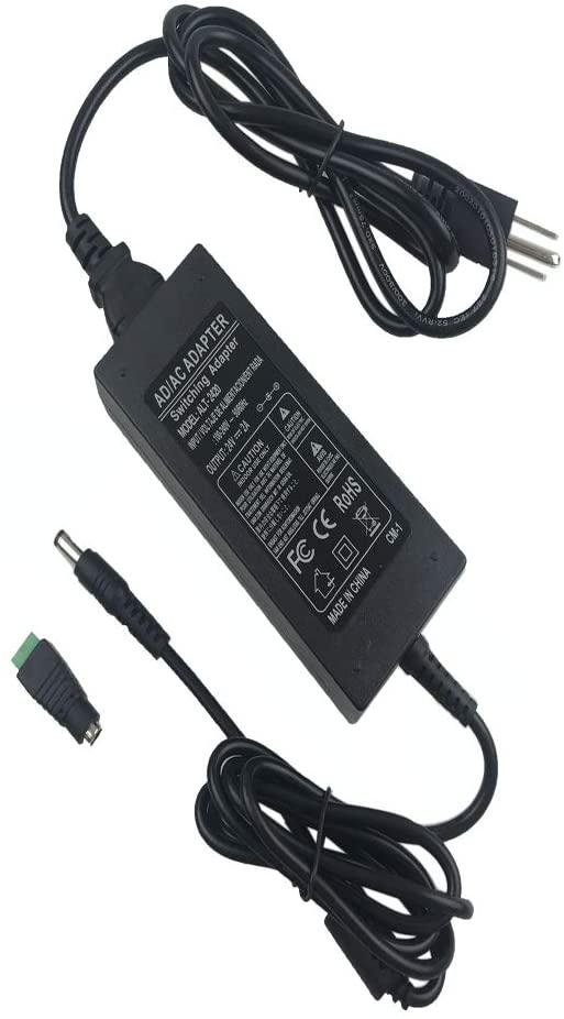 Alarmpore 24V DC Power Supply 2A 48W AC/DC Adapter 100~240V AC to DC 24 Volt 2 Amp Converter 24V DC 2000mA 1.8A 1.5A 1.3A 1.2A with 5.5mmx 2.5mm 2.1mm Plug for LED Strip Light CCTV Camera DC Pump Fan