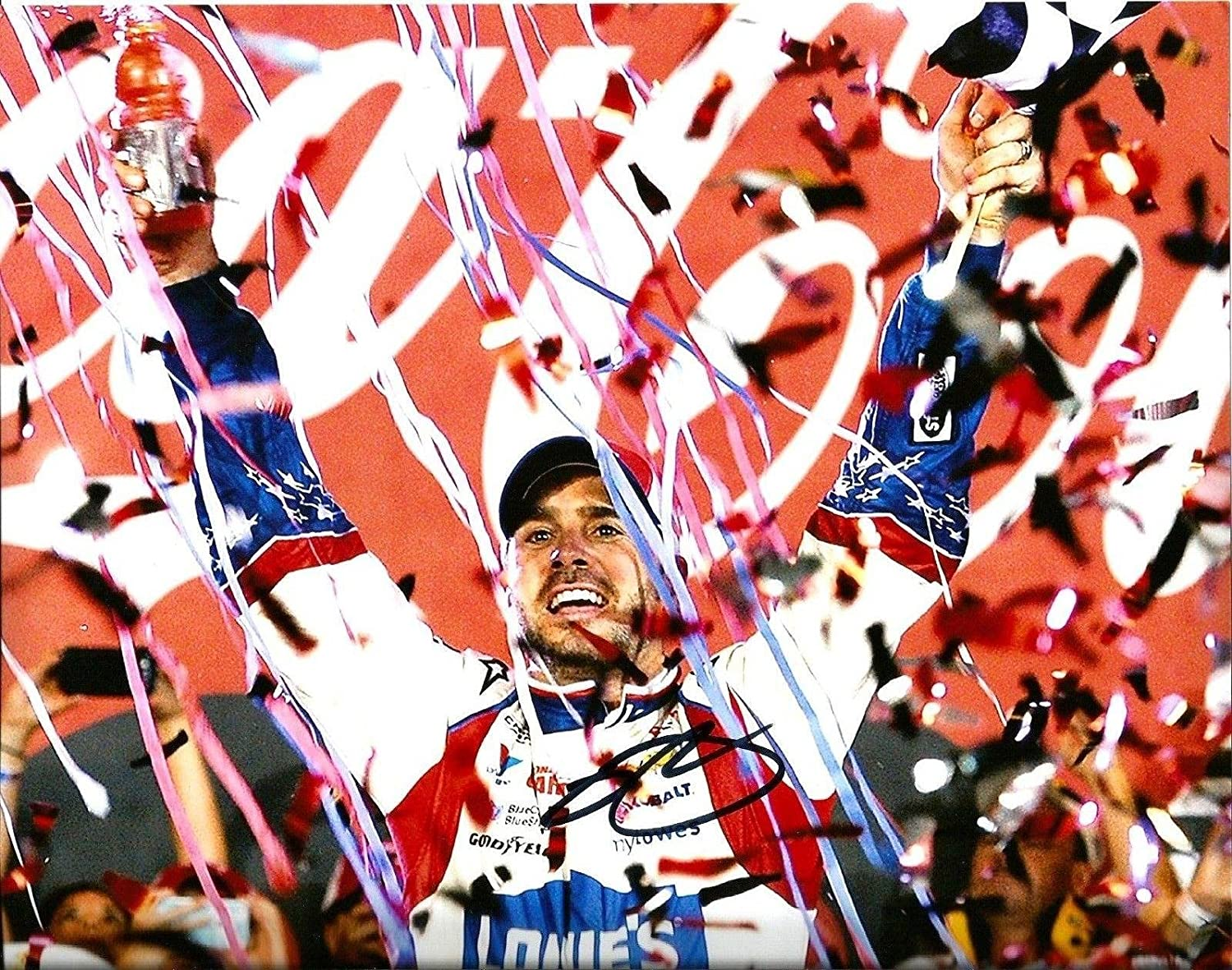 2014 Jimmie Johnson 6x TIME CHAMPION LOWES RACING NASCAR Signed 8x10 Photo #5 - Autographed NASCAR Photos