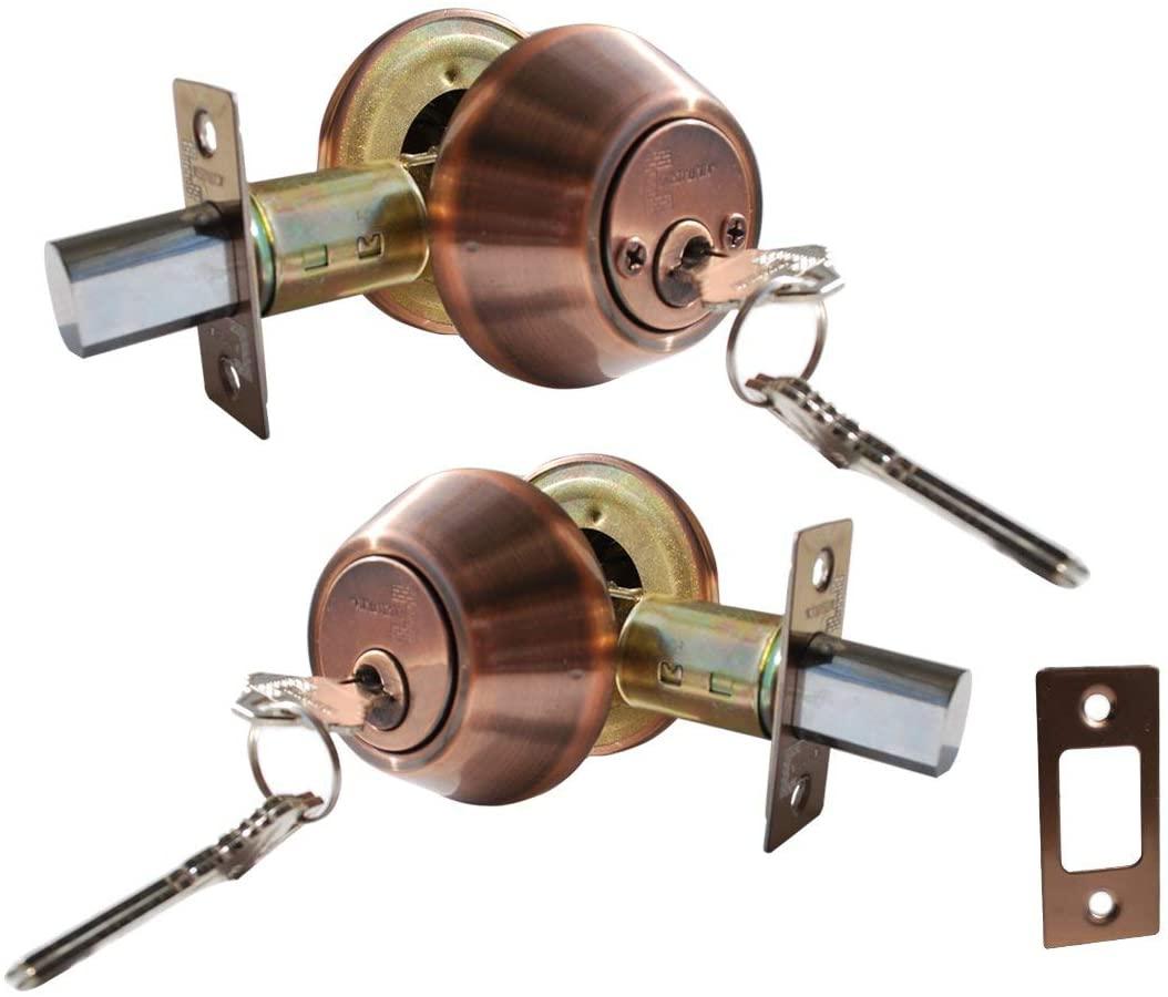 Constructor CON4284 Deadbolt Door Lock Set with Double Cylinder
