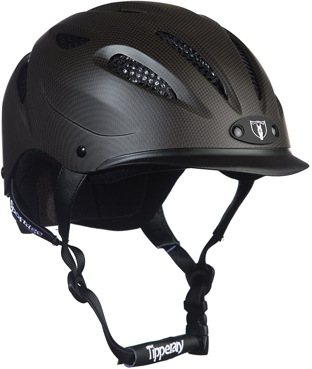 TIPPERARY EQUESTRIAN Horse Riding Helmet - Sportage - Lightweight Cooling Horseback Riding Apparel - Safety Helmet with Superior Ventilation and Air Flow - Cocoa Brown - S