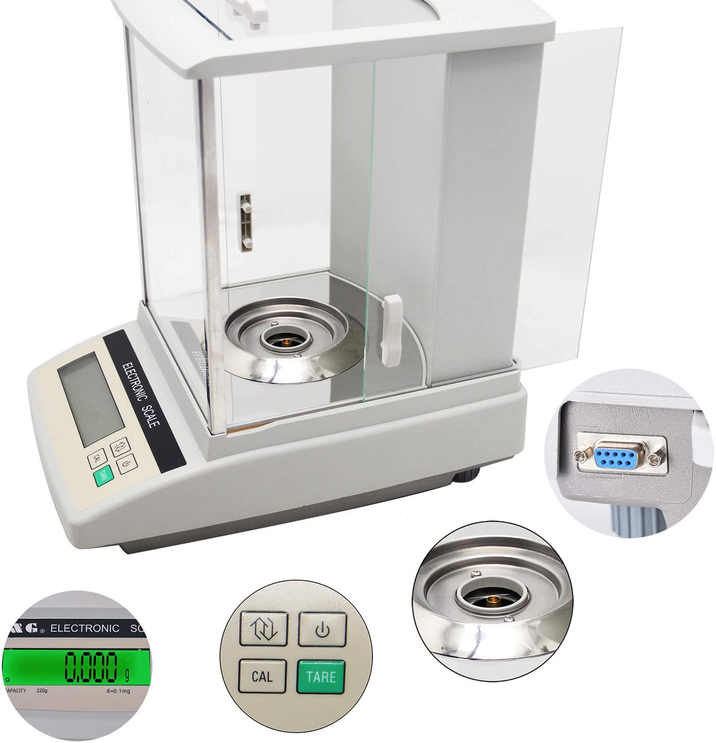 Hanchen Electric Analytical Balance 520g/1mg 0.001g Digital Balance Scale For Laboratory Pharmacy Jewelry Store Chemical Plant 110v