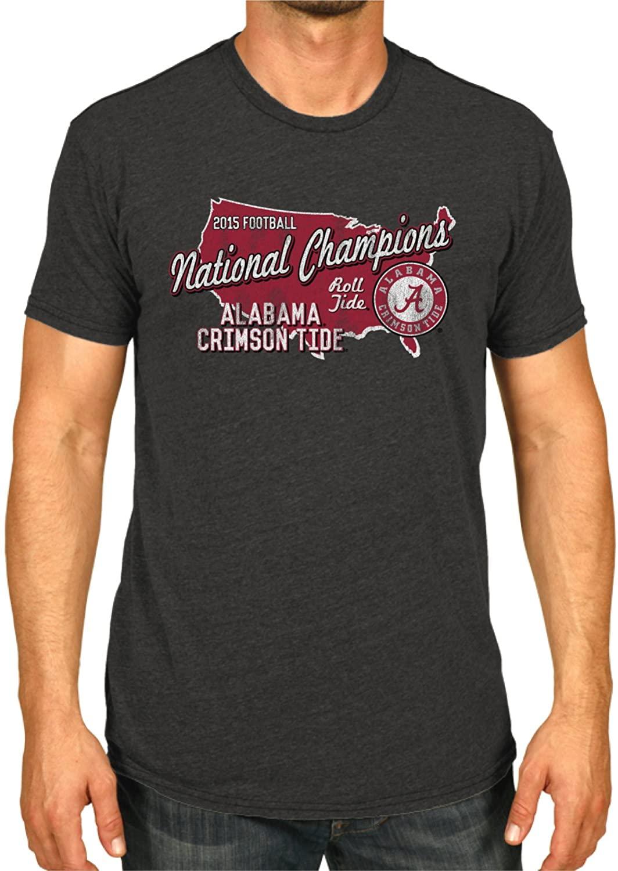 Alabama Crimson Tide 2016 College Football Champions USA Dark Gray T-Shirt