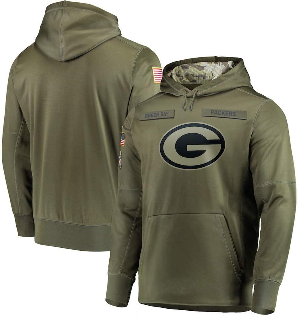 Dunbrooke Apparel Green Bay Packers Salute to Service Hoodie Camo Men