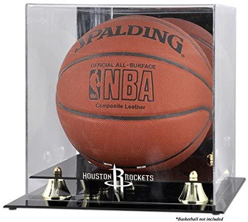 Mounted Memories Houston Rockets Golden Classic Team Logo Basketball Display Case