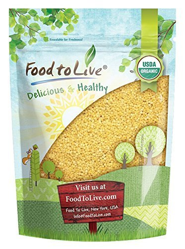 Organic Whole Wheat Couscous, 1 Pound - Non-GMO, Kosher, Raw, Vegan, Bulk