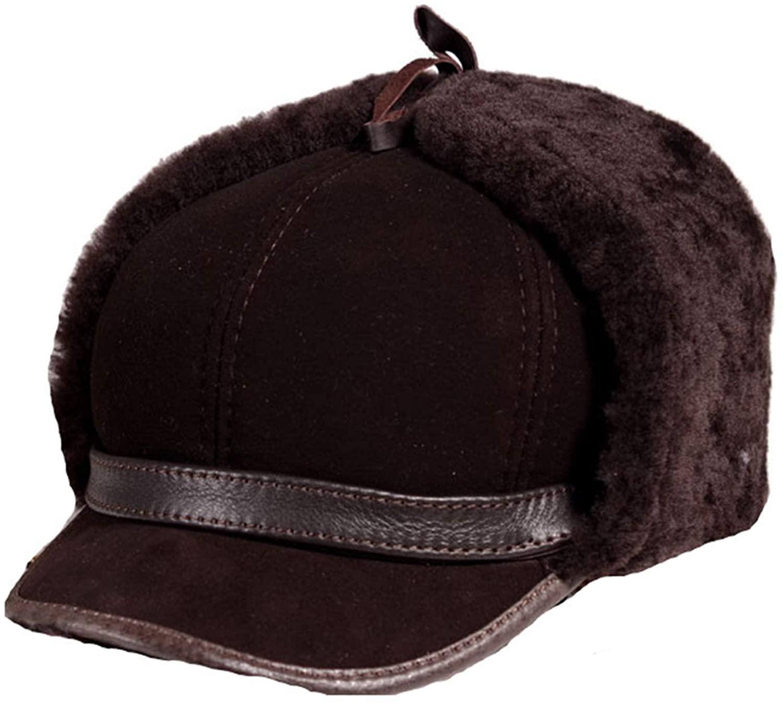 Unisex Bomber Trooper Trapper Hat,Winter Fur One Bomber Hats Fleece Head Warm Motocycle Bonnet
