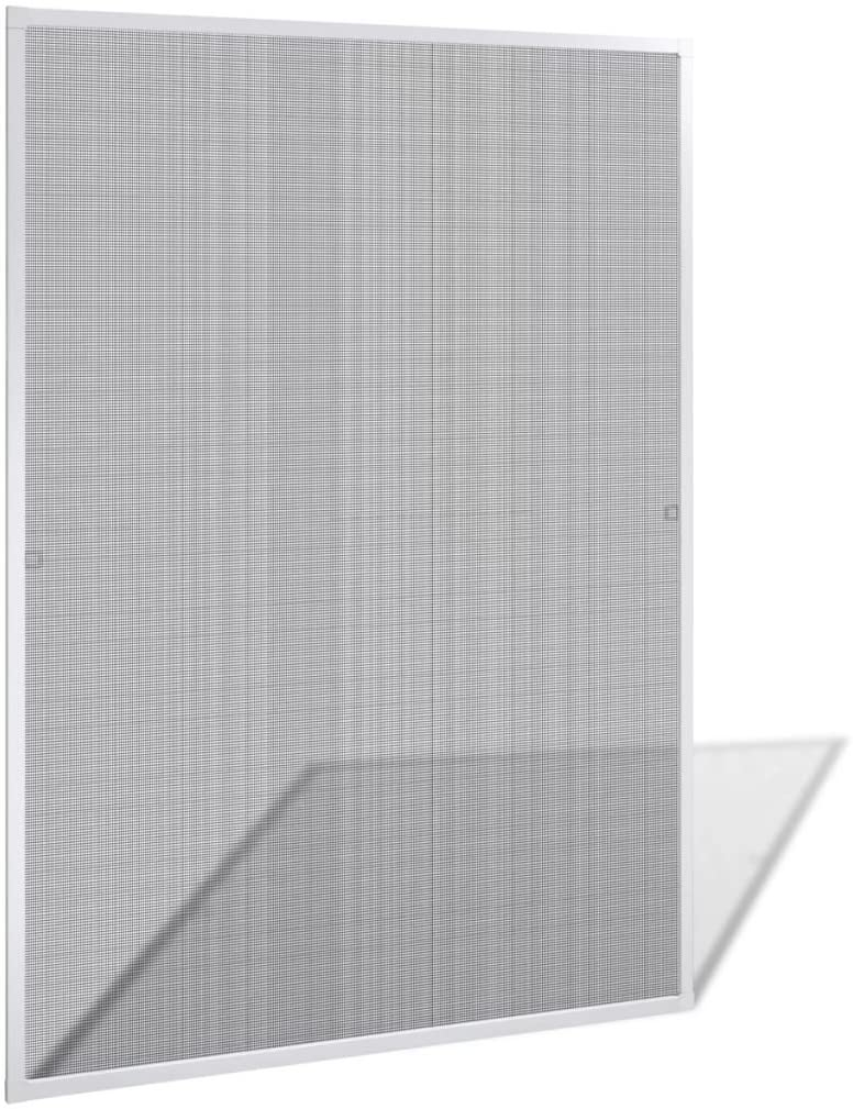 Tidyard Adjustable White Insect Screen Aluminum Frame Fiberglass Net for Windows for Home Workplace 47.2
