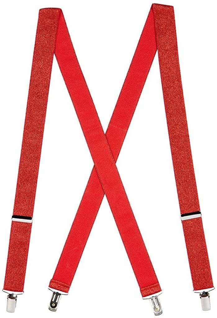 SuspenderStore Men's Glitter Clip-End Novelty Suspenders - 1.25-Inch Wide (2 Sizes, 7 Colors)