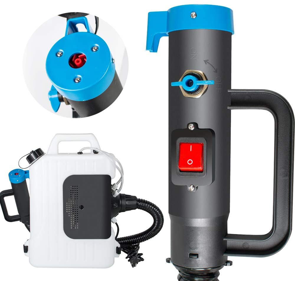 Electric Fogger Machine Backpack Sprayer Atomizer 110V 10L ULV Sprayer Fogging Machine for Home, Hotels, Shopping Malls, Restaurants, Schools, Theaters, Cars