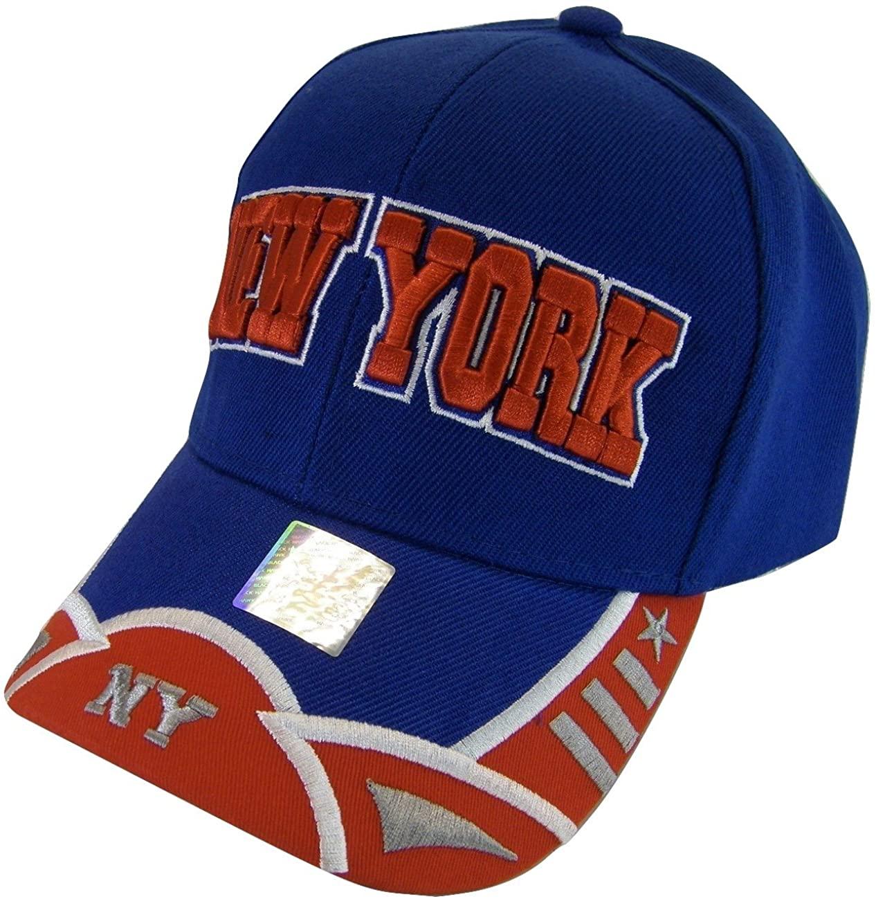 New York City Men's Small Star & Dashes 2-Tone Adjustable Baseball Cap