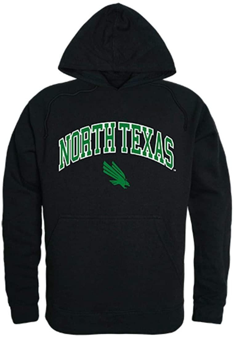 University of North Texas Mean Green Campus Hoodie Sweatshirt Black Large