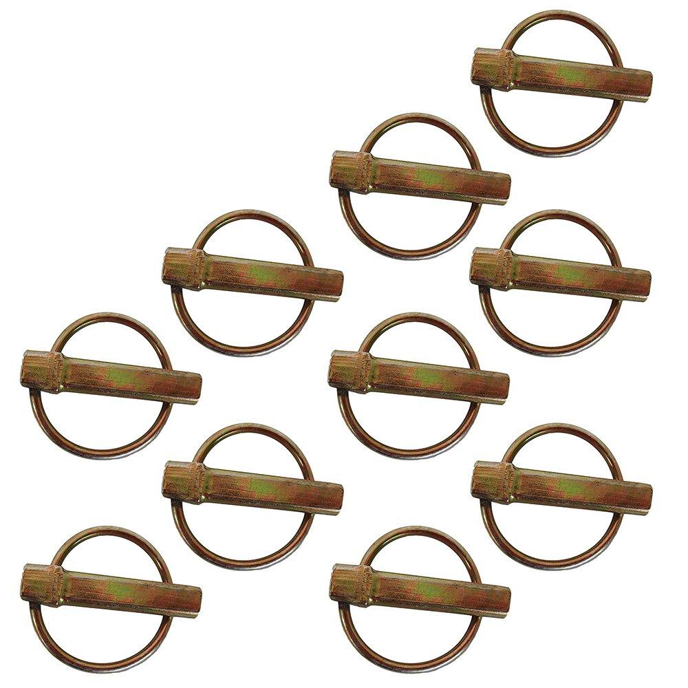 S07090100 (10) Ten Lynch Pins 7/16 Diameter X 2 Overall Length