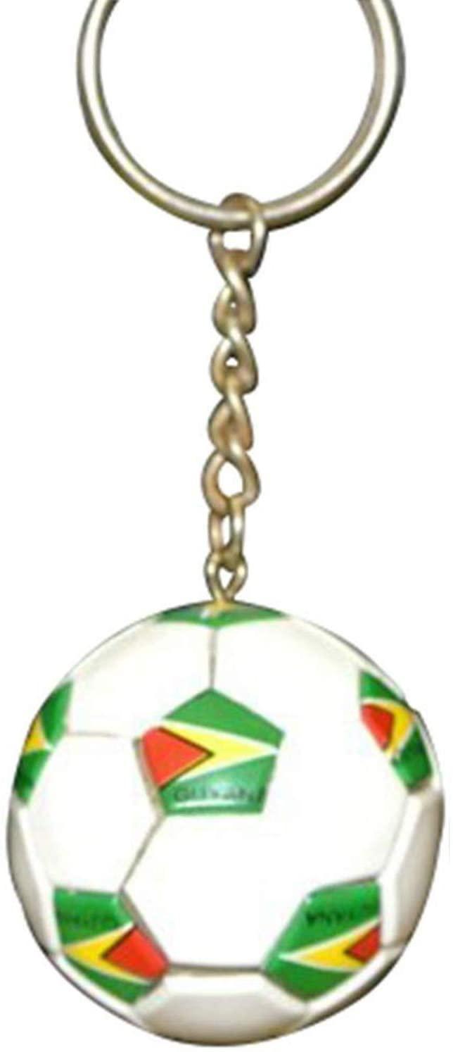 Guyana Football Soccer Futbol Ball Keychains KeyRings