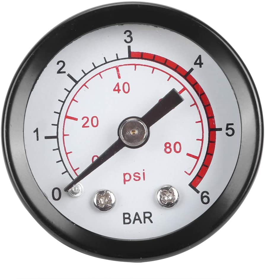 Corrosion Resistant And Pressure Resistant 0-6 bar / 0-80psi Garden Tool, Replacement Atomizer Pressure Gauge, for The Old Or Damaged One Sprayer Accessories
