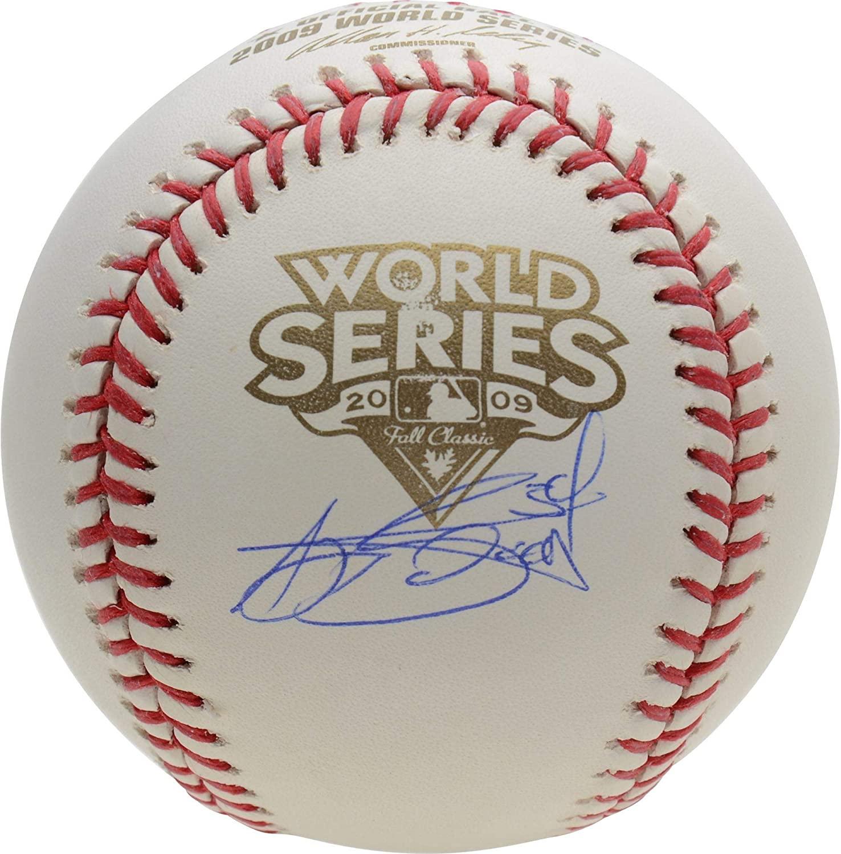 A.J. Burnett Yankees Autographed 2009 World Series Logo Baseball - Autographed Baseballs