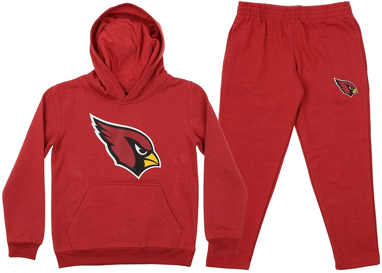 OuterStuff NFL Youth Team Color and Fleece Hoodie Set, Arizona Cardinals Medium 10/12